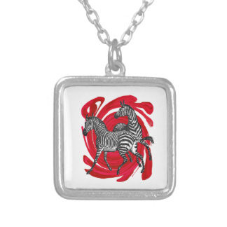 Magical Stripes Silver Plated Necklace
