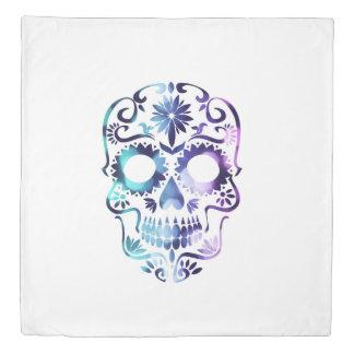 Magical Sugar skull purple haze design Duvet Cover