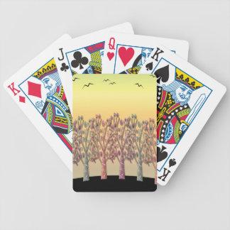 Magical sunset poker deck