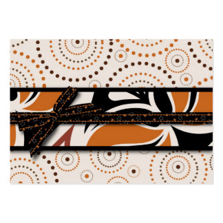 Magical Swirls and Halloween Prints Large Business Card