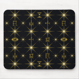 Magical Symbols Pattern Mouse Pad