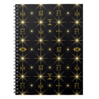 Magical Symbols Pattern Spiral Notebook