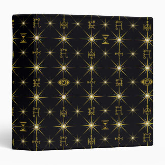 Magical Symbols Pattern Vinyl Binder