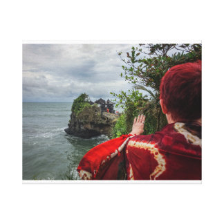 Magical Tanah Lot sea temple in Bali, Indonesia Canvas Print
