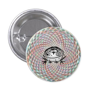 magical toad medicine ride 1 inch round button