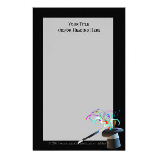 Magical Top Hat Stationery