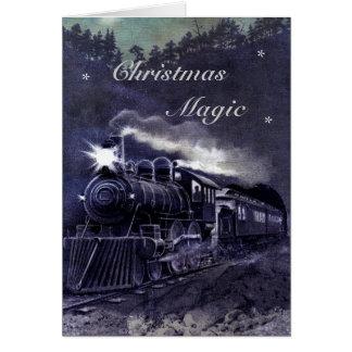 """Magical Train """"Christmas Magic"""" Card"""