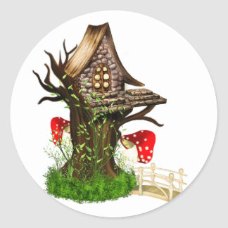 Magical Tree House Round Sticker