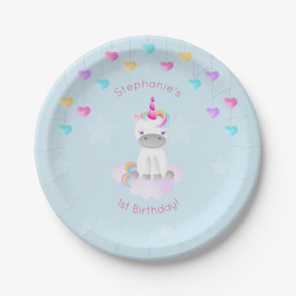 Magical Unicorn 7 Inch Paper Plate