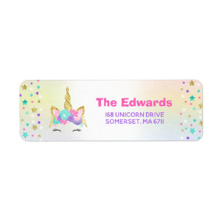 Magical Unicorn Address Labels Unicorn Party