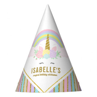 Magical Unicorn Birthday Party Hat