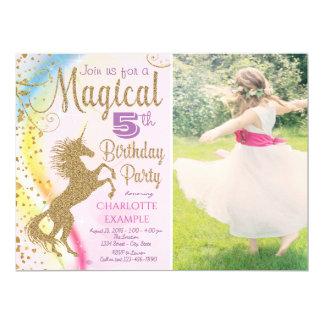 Magical Unicorn Birthday Party Invitations