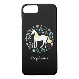 Magical Unicorn Black Personalized iPhone 8/7 Case