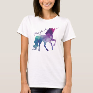 Magical Unicorn Cosmic Galaxy Watercolor T-Shirt
