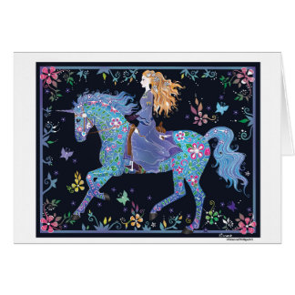 Magical Unicorn & Fairy Card