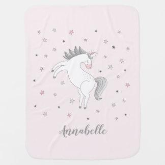 Magical Unicorn Girl Baby Blanket