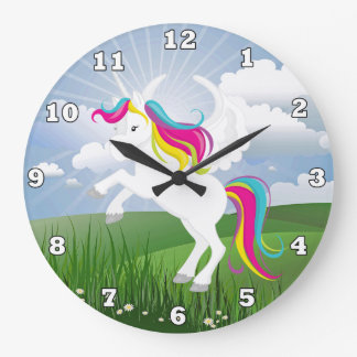 Magical Unicorn  girls room wall clock