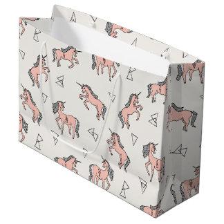 Magical Unicorn Love - Pale Pink / Andrea Lauren Large Gift Bag