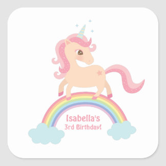 Magical Unicorn on Rainbow Girls Stickers