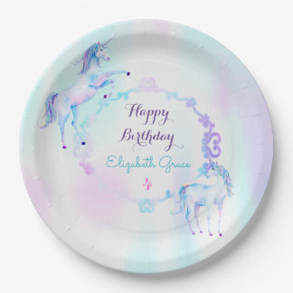 Magical Unicorn Rainbow Lavender Pink Turquoise