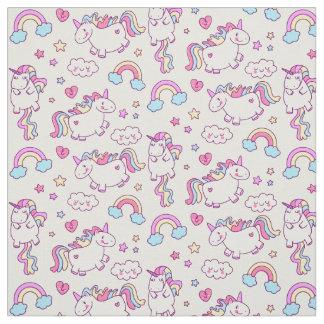 Magical Unicorn Rainbow Star & Cloud Fabric