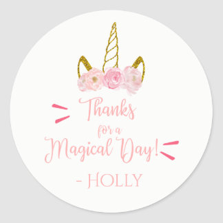 Magical Unicorn Thank You Stickers