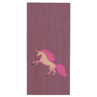 Magical Unicorn USB Flash Drive 8GB Wood USB 2.0 Flash Drive
