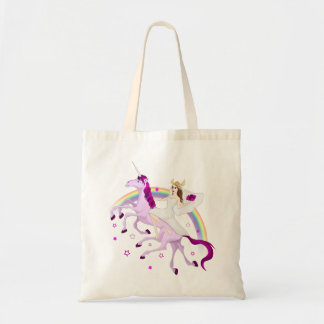 Magical Valkyrie bride on Sleipnir tote bag