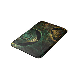 Magical Vibrations Abstract Art Bathroom Mat
