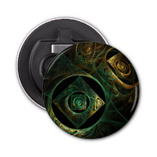 Magical Vibrations Abstract Art Button Bottle Opener