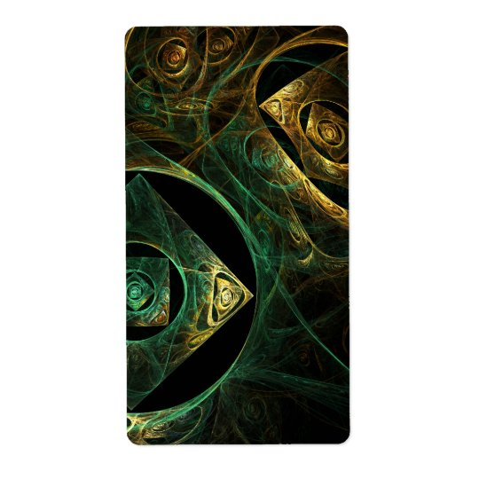 Magical Vibrations Abstract Art Fractal Shipping Label