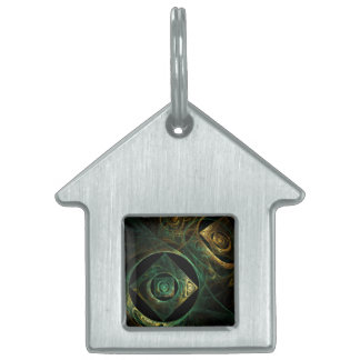 Magical Vibrations Abstract Art House Pet Tag