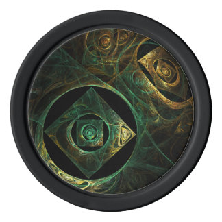 Magical Vibrations Abstract Art Poker Chips