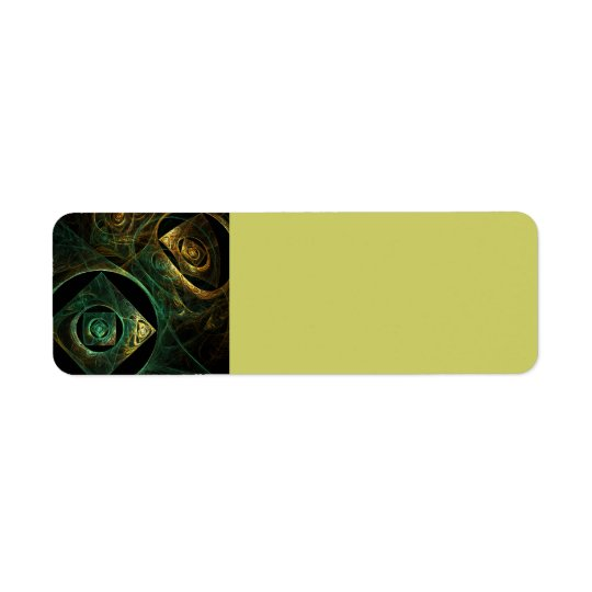 Magical Vibrations Abstract Art Return Address Label