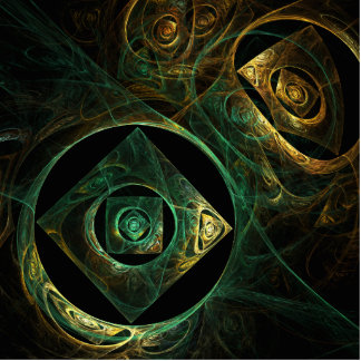 Magical Vibrations Abstract Art Standing Photo Sculpture