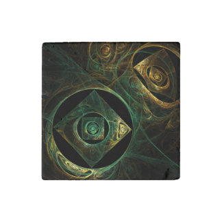 Magical Vibrations Abstract Art Stone Magnets