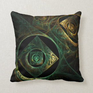 Magical Vibrations Abstract Art Throw Pillow
