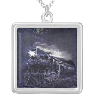 Magical Victorian train Steam engine Necklace