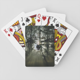 Magical wolf playing cards