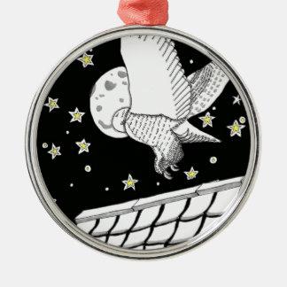 Magical Zentangle Messenger Owl Christmas Ornaments