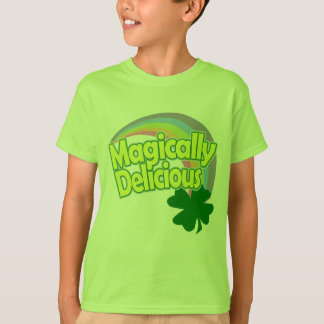 Magically Delicious Pastel Rainbow St Patricks Day T-Shirt