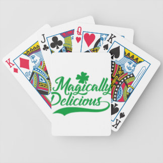 Magically Delicious St. Patrick's Day Bicycle Playing Cards
