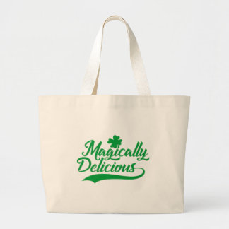 Magically Delicious St. Patrick's Day Large Tote Bag