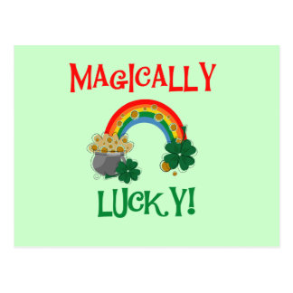 Magically Lucky T-shirts and Gifts Postcard
