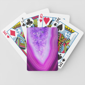 Magically Purple Agate Druzy Bicycle Playing Cards
