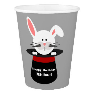 Magician Birthday Party Cups Paper Cup
