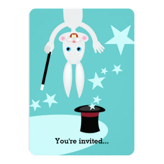 Magician boy birthday party invitation