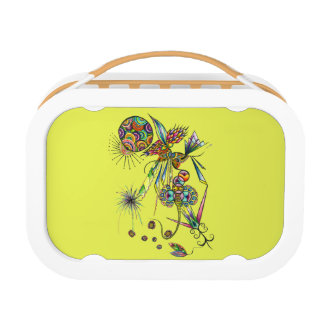 Magician - fantasy psychedelic abstract art funky lunch box