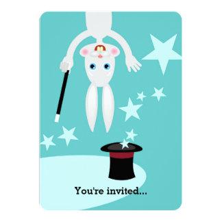 "Magician kid birthday party 5"" x 7"" invitation card"