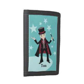 Magician Kid Birthday Party Trifold Wallets